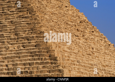 Egypt. The Great Pyramid of Giza called Pyramid of Menkaure. 4th Dynasty. 26th century B.C. Old Kingdom. - Stock Photo