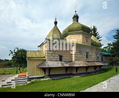 Old historical Ukrainian wood church (XVII - XVIII) - Stock Photo