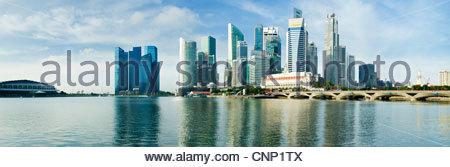 The city skyline, Singapore - Stock Photo