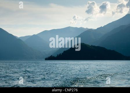 View across Lake Como, Italy, toward Villa Balbianello.