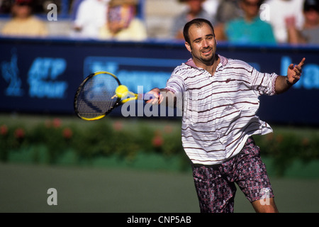 Andre Agassi at the 1995 Newsweek Cup. - Stock Photo
