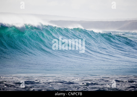 Wave breaking at Greenly Beach South Australia - Stock Photo