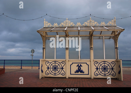 Edwardian beach shelter at Eastbourne United Kingdom - Stock Photo