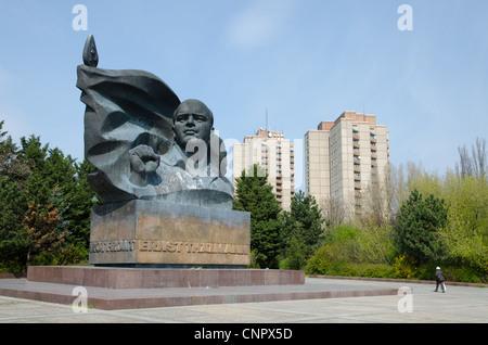 Ernst Thaelmann giant communist monument in eastern Berlin - Stock Photo