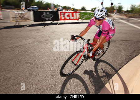 SCOTTSDALE, AZ - OCTOBER 2: Cyclists compete in the Scottsdale Cycling Festival Criterium. - Stock Photo