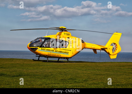 Eurocopter EC135 air ambulance helicopter - Stock Photo