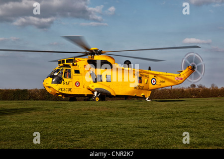 Westland Sea King RAF search and rescue helicopter - Stock Photo
