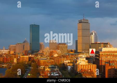 Late Sunlight on Boston's Back Bay - Stock Photo