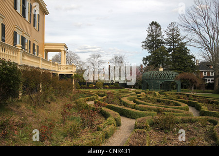 Rotch-Jones-Duff House and Garden Museum, New Bedford, Massachusetts. The property was built for a whaling merchant - Stock Photo