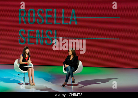 Telecast 'Quelli che il calcio'. RAI 2. Milan 2012. Victoria Cabello with Rosella Sensi - Stock Photo
