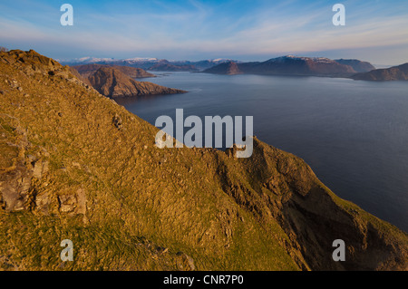 Evening on the south side of the island Runde, Møre og Romsdal, Norway. - Stock Photo