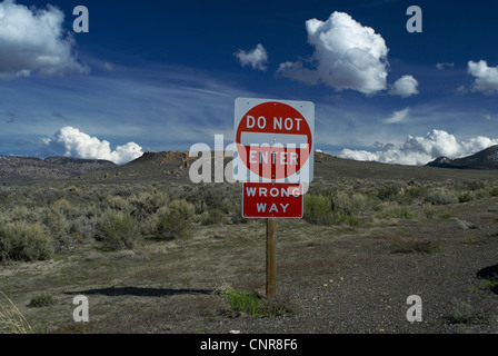Do not enter sign on rural road - Stock Photo