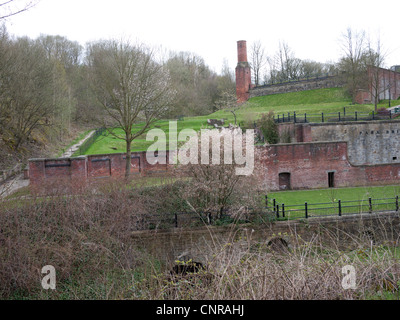 Remains of Park Bridge Ironworks, Ashton-under-Lyne, Lancashire, England, UK. - Stock Photo