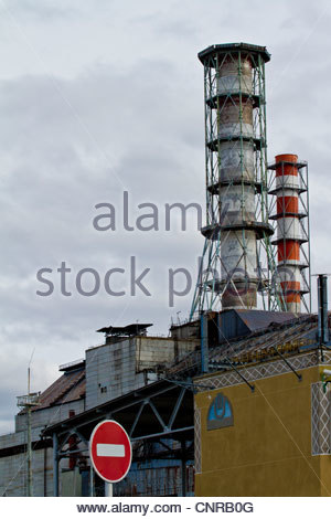 Chernobyl. Pripiat. 2012 March, Chernobyl city. March 2012. The nuclear reactor of the Chernobyl zone. - Stock Photo
