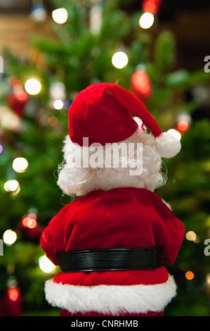 Santa Claus Christmas decoration, rear view