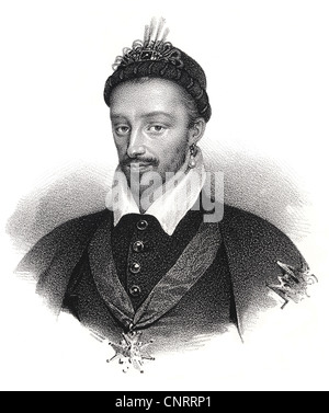 King of France, Henry III of France, Alexandre-Édouard, Duke of Anjou, Henri de Valois, Henryk Walezy, King of Poland - Stock Photo