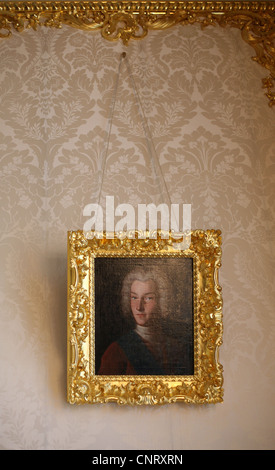 Portrait of Emperor Peter II of Russia in the Catherine Palace in Tsarskoye Selo near St Petersburg, Russia. - Stock Photo