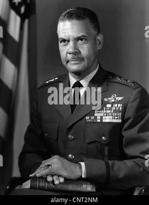 Digitally restored vector photograph of General Benjamin O. Davis Jr. - Stock Photo