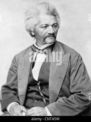 Vintage American Civil War print of Frederick Douglass. - Stock Photo