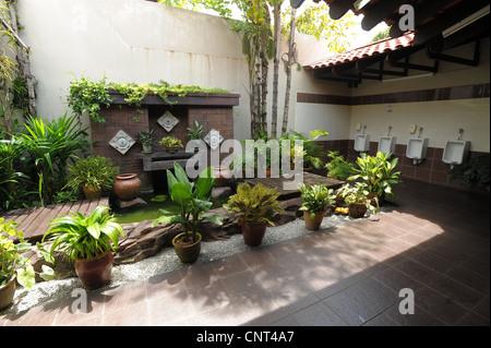... Tropical Garden Art Deco Style In Menu0027s Toilets , Oriental Gardens,  Langkawi,malaysia,