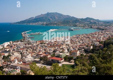 Bohali (Bochali) above Zakynthos Town - Stock Photo
