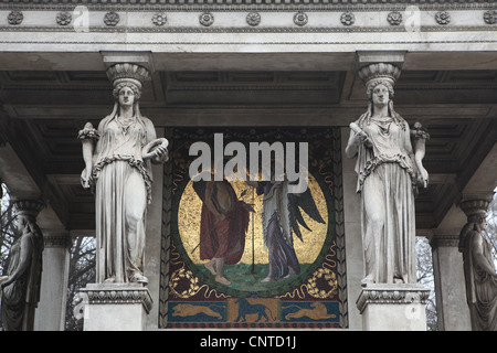 Friedensengel Monument (Angel of Peace) in Munich, Germany. - Stock Photo