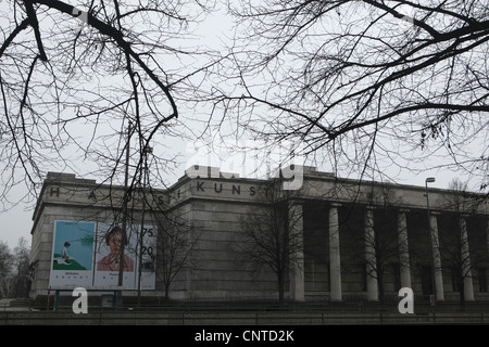 Haus der Kunst (House of Art) by Nazi architect Paul Ludwig Troost in Munich, Germany. - Stock Photo