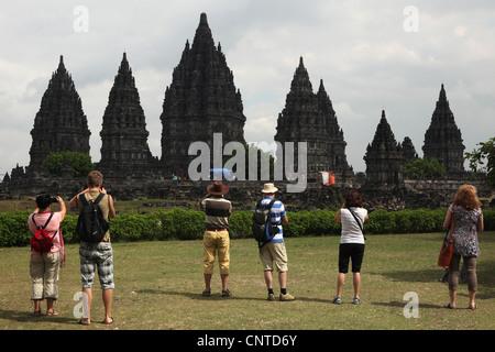 Prambanan Temple near Yogyakarta, Central Java, Indonesia. - Stock Photo