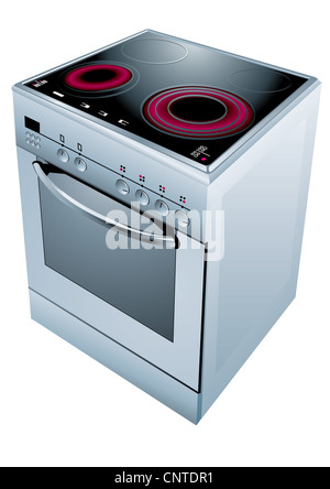 Electric cooker oven.  illustration. - Stock Photo