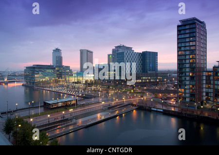 Greater Manchester Northern England UK. Media City on Salford Quays home to the BBC - Stock Photo