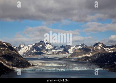 Knud Rasmussen Glacier, Greenland, Ammassalik, East Greenland, Sermiligaq - Stock Photo
