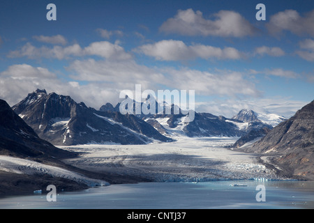 Kaerale Glacier, Greenland, Ammassalik, East Greenland, Sermiligaq - Stock Photo