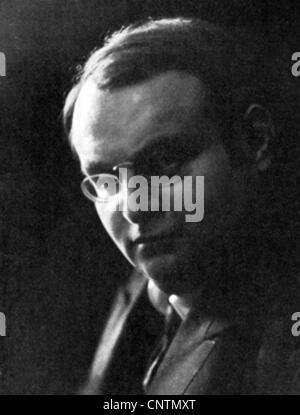 Lissauer, Ernst, 10.12.1882 - 10.12.1937, German author / writer (poet), portrait, photo by C. J. van Duehren, Berlin, - Stock Photo