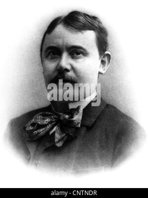 Mikszath, Kalman, 16.1.1847 - 28.5.1910, Hungarian author / writer, portrait, photograph, 1904, Additional-Rights - Stock Photo