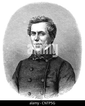 Loedel, Heinrich, 1798 - 1861, German printmaker, portrait, wood engraving, 19th century, , Additional-Rights-Clearances - Stock Photo