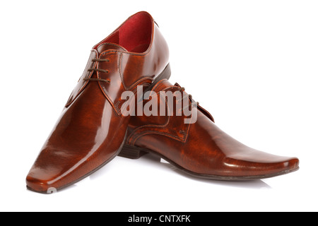 Mans leather fashion shoes - Stock Photo