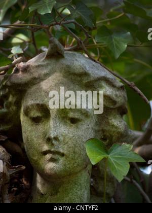 Angel statue in garden of victorian sharpstein manor in for Extra mural cemetery brighton