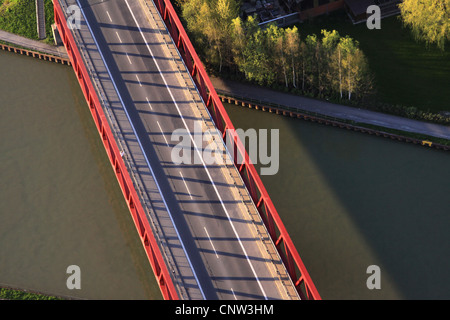 bridge of Muensterstrasse, Muenster street, over Dortmund Ems channel, Germany, North Rhine-Westphalia, Ruhr Area, - Stock Photo