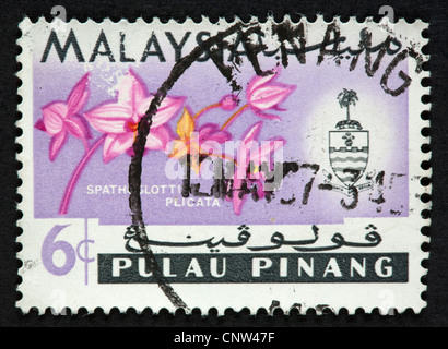 Malaysian postage stamp - Stock Photo