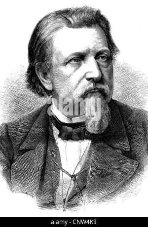 Karl Ferdinand Gutzkow, 1811 - 1878, a German writer, playwright and journalist, one of the leading voices of the - Stock Photo