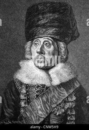 Hans Joachim von Zieten, Ziethen, called Zieten from the bush, 1699 - 1786, one of the most famous cavalry generals - Stock Photo