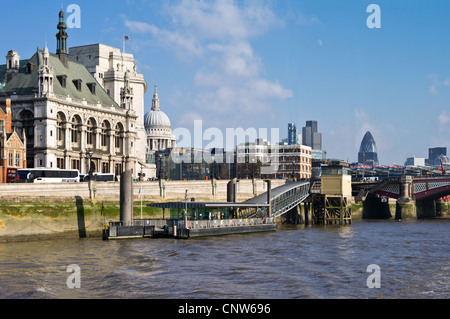 Europe England London seen from the Thames river, the Blackfriars area - Stock Photo