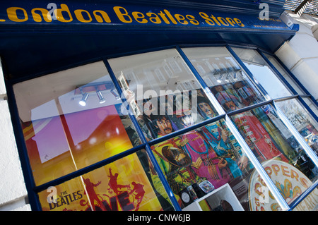 Europe England London, the Beatles store in Baker street - Stock Photo