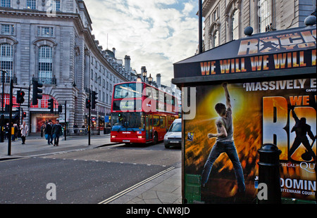 Europe England London, people in Piccadilly Circus - Stock Photo