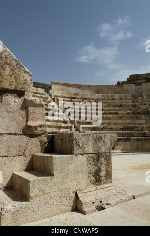 The Odeon, built in the 2nd century AD on the Jebel al-Ashrafiyeh just near the Roman Theater in downtown of Amman, - Stock Photo