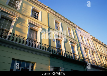 England, London, Notting Hill, Residential Housing in Westbourne Grove - Stock Photo