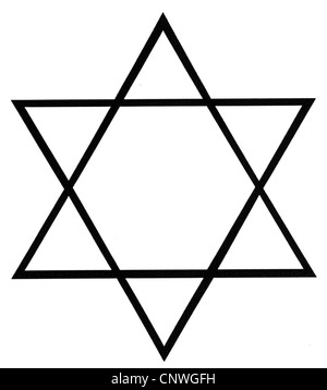 symbols, Star of David, computer graphics, Additional-Rights-Clearences-NA - Stock Photo