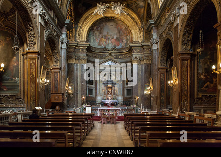 San Silvestro in Capite (Church of Saint Sylvester the First) interior, Rome, Italy, Europe - Stock Photo