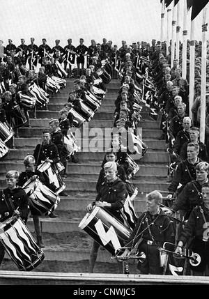 National Socialism /Nazism, organizations, Hitler Youth (HJ), Deutsches Jungvolk, 'Rally of Freedom', Nuremberg, - Stock Photo