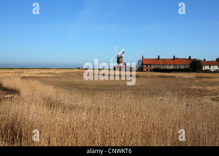 Cley Windmill, Cley next the Sea, Norfolk, England. - Stock Photo